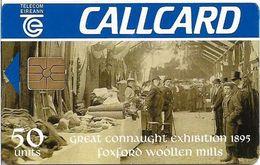Ireland - Eircom - Foxford Woollen Mills - 50Units, Chip GEM1B Not Symmetric, Red, 09.1995, 50.000ex, Used - Ireland