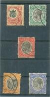 TANGANYIKA Y & T N° 3 - 25 - 27 -28 - 30A ( O ) Les 5 Timbres - Tanganyika (...-1932)