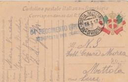 CARTOLINA FRANCHIGIA 1917 P91A 18 DIV FANTERIA MONTENEGRO-35 DIVISIONE (IX25 - 1900-44 Vittorio Emanuele III