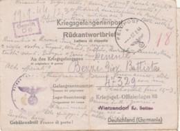 LETTERA 1944 PRIGIONIERI DI GUERRA FELDPOST (IX31 - 1900-44 Victor Emmanuel III