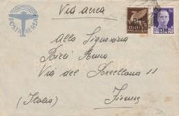 LETTERA 1943 50+50 PA PM 99 MONTENERO (IX65 - 1900-44 Vittorio Emanuele III