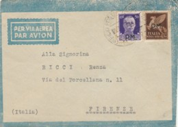 LETTERA 1943 50+50 PA PM 99 MONTENERO (IX69 - 1900-44 Vittorio Emanuele III