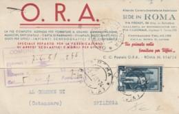 CARTOLINA POSTALE 1951 L.15 ITALIA AL LAVORO -TIMBRO SPILINGA CATANZARO (IX102 - 1946-60: Storia Postale