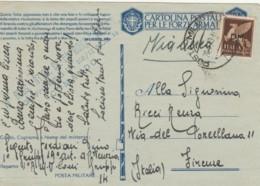 CARTOLINA FRANCHIGIA 1943 PM14 +50 PA PM -QUESTA LOTTA GIGANTESCA (IX158 - 1900-44 Vittorio Emanuele III
