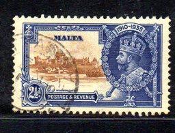 CI791 - MALTA 1935 , Giubileo Unificato N. 172 Usato  (2380A) . - Malta