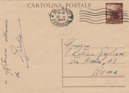 INTERO POSTALE 1947 L.3 TIMBRO MILANO (IX172 - 6. 1946-.. Repubblica