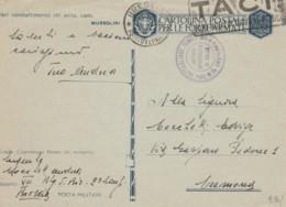 CARTOLINA FRANCHIGIA 1942 TIMBRO BRESCIA TACI-NEL COMBATTIMENTO (IX182 - Franquicia