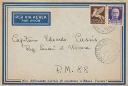 LETTERA 1942 50+50 PM 88 RUSSIA TIMBRO CROCETTA DEL MONTELLO TREVISO (IX194 - 1900-44 Victor Emmanuel III.