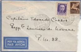 LETTERA 1942 50+50 PM 88 RUSSIA TIMBRO CROCETTA DEL MONTELLO TREVISO (IX195 - 1900-44 Vittorio Emanuele III