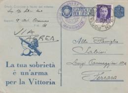CARTOLINA FRANCHIGIA PM61 1943 +50 C PM -LA TUA SOBRIETA' (IX202 - Franchise