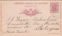 INTERO POSTALE 1889 CENT. 7,50- RISPOSTA (IX212 - 1878-00 Humbert I