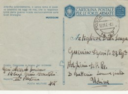 CARTOLINA FRANCHIGIA PM47 SLOVENIA 1941-AFFERMO SOLENNEMENTE (IX242 - 1900-44 Vittorio Emanuele III