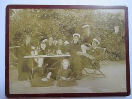 Photographie Ancienne Albumen - Repas De Famille à MONTOLIVET ( Marseille ) Les Arcades - TBE - Photographs