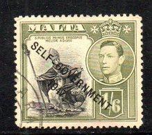 CI800B - MALTA 1948 , Unificato N. 211 Usato  (2380A) . Self Government - Malta