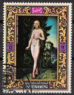 "Mutawakelite K. Yemen 1970 Mi. 1097 ""Nude Art Painting"" Quadro Dipinto Lucas Cranach Il Vecchio Paintings Tableaux CTO - Yemen"