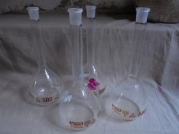 Lot De 4 Verres Ballon Style Chimiste 500 Ml - Verre & Cristal