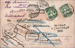 ! Fotokarte, Photo, Luzern, 1904, Schweiz, Nizza, Berlin, Retour, Non Reclame - 1882-1906 Armoiries, Helvetia Debout & UPU