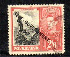 CI798B - MALTA 1948 , Unificato N. 213 Usato  (2380A) . Self Government - Malta