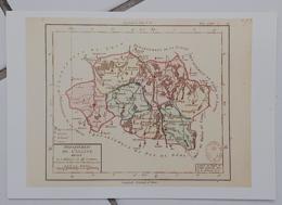 FRANCE - Carte Géographique - ALLIER 03 - 1ère Carte Des Départements Origine 1792 - Landkarten