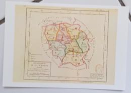 FRANCE - Carte Géographique - CREUSE 23 - 1ère Carte Des Départements Origine 1792 - Landkarten