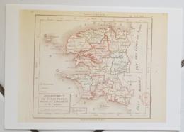 FRANCE - Carte Géographique - FINISTERE 29 - 1ère Carte Des Départements Origine 1792 - Mapas