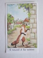 Publicité Jean De La Fontaine Le Renard Et Les Raisins  éditions éducatives Paris Illustrateur Calvet Rogniat - Other