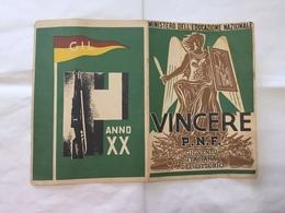 PAGELLA SCOLASTICA  VINCERE PNF GIL MONTELIBRETTI ROMA 1941/1942. - Diplomi E Pagelle