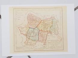 FRANCE - Carte Géographique - SAONE ET LOIRE 69 - 1ère Carte Des Départements Origine 1792 - Landkarten