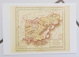FRANCE - Carte Géographique - VAR 83 - 1ère Carte Des Départements Origine 1792 - Landkarten