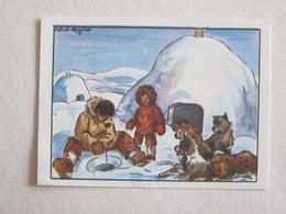 Publicité Igloo Pôle Nord  éditions éducatives Paris Illustrateur Calvet Rogniat - Other