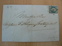 CP39/  NAPOLEON N° 14 SUR  LETTRE - 1853-1860 Napoleon III