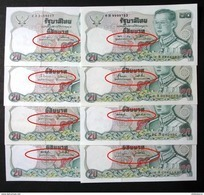 Thailand Banknote 20 Baht Series 12 P#88 Completed Set Of 16 Signatures - Thailand