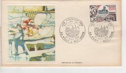 PREMIER JOUR 1977 SERIGRAPHIE DE POUSSIN CACHET LES PREMONTRES PONT A MOUSSON ET TIMBRE - 1970-1979