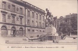 CPA  -   MONTAUBAN - 47. Musée D'histoire Naturelle Et Monument De 1870.... - Montauban