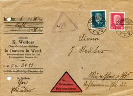 (Lo3282) Nachn. Brief DR St. Dorsten N. Münster - Allemagne