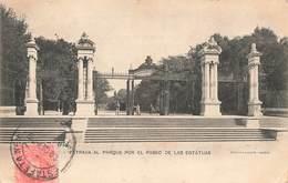 Espagne Madrid Estrada Al Parque Por El Paseo De La Estatuas + Timbre - Madrid