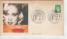 PREMIER JOUR 1977 SERIGRAPHIE DE RUDO CACHET SABINE LILLE ET TIMBRE - 1970-1979