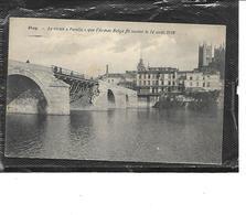 """Europe-Belgique-HUY-Une Vue Du Vieux """"PONTIAT"""" Que L'Armée Belge Fit Sauter Le 14 Aout 1914 - Huy"""