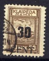 Memel / Klaipeda 1923 Mi 194, Gestempelt [020619XXVII] - Memelgebiet