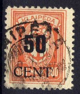 Memel / Klaipeda 1923 Mi 200, Gestempelt [020619XXVII] - Memelgebiet