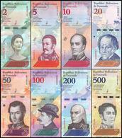 Venezuela - Set 8 Banknotes 2 5 10 20 50 100 200 500 Bolivares 2018 UNC Lemberg-Zp - Venezuela