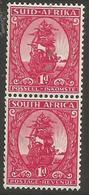 South Africa - 1943 Riebeeck's Ship 1d  Pair MNH **    SG 106   Sc 99 - South Africa (...-1961)