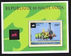 Haute Volta B.F. N° 5 J  XX  Rétrospective Des Chemins De Fer, Le  Bloc Sans Charnière TB - Upper Volta (1958-1984)