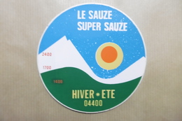 LE SAUZE SUPER SAUZE - Autocollant Station De Sports D'hiver Dans Les ALPES - Autocollants