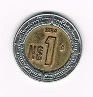 //  MEXICO  1 NEW  PESO 1994 - Mexique
