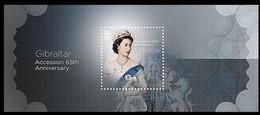 Gibraltar 2017 Micheln° Bloc 126 *** MNH Accession 65th Anniversary Queen Elizabeth II - Gibraltar