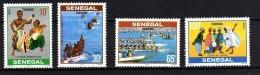 Sénégal N° 480 / 83 XX  Tourisme, Les 4 Valeurs Sans Charnière, TB - Senegal (1960-...)