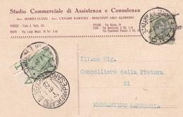 STORIA POSTALE - FANO - STUDIO COMMERCIALE DI ASSITENZA E CONSULENZA - VIAGGIATA PER MERCANTINO MARECCHIA ( PESARO) - Storia Postale