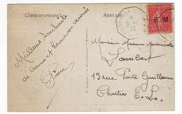 A31 Semeuse FM N°6 Sur CP Obl Yokohama à Marseille (1932) - Franchise Militaire (timbres)