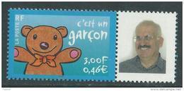 """France Personnalisés N° 3431ph XX """"C'est Un Garçon"""" Vignette """" Photo Personnalisée""""  Sans Charnière TB - Personalized Stamps"""